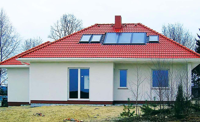 Дом с отопительным котлом на твердом топливе