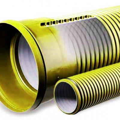 гофрированные трубы для канализации в разрезе