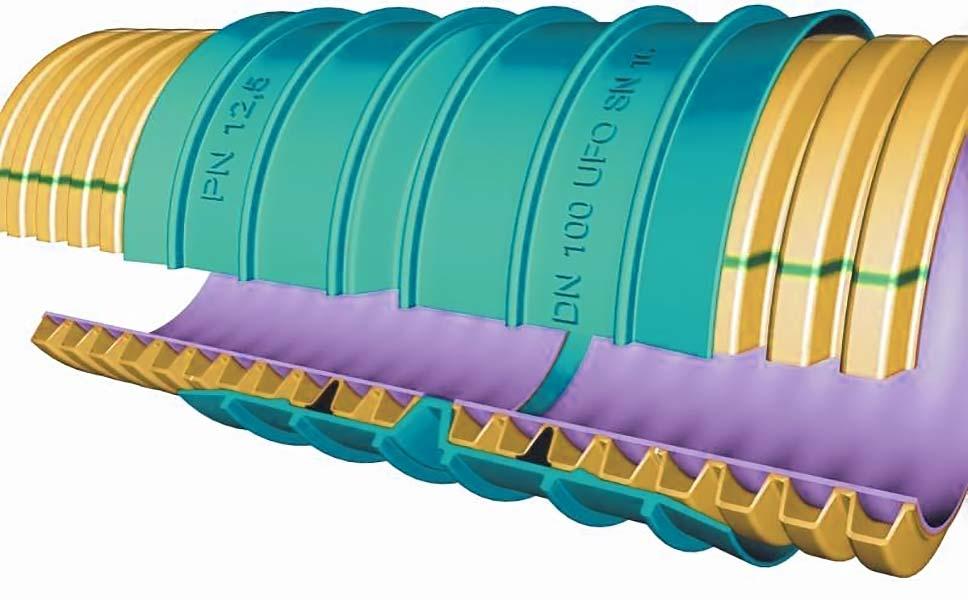 Строение гофрированных труб для канализации