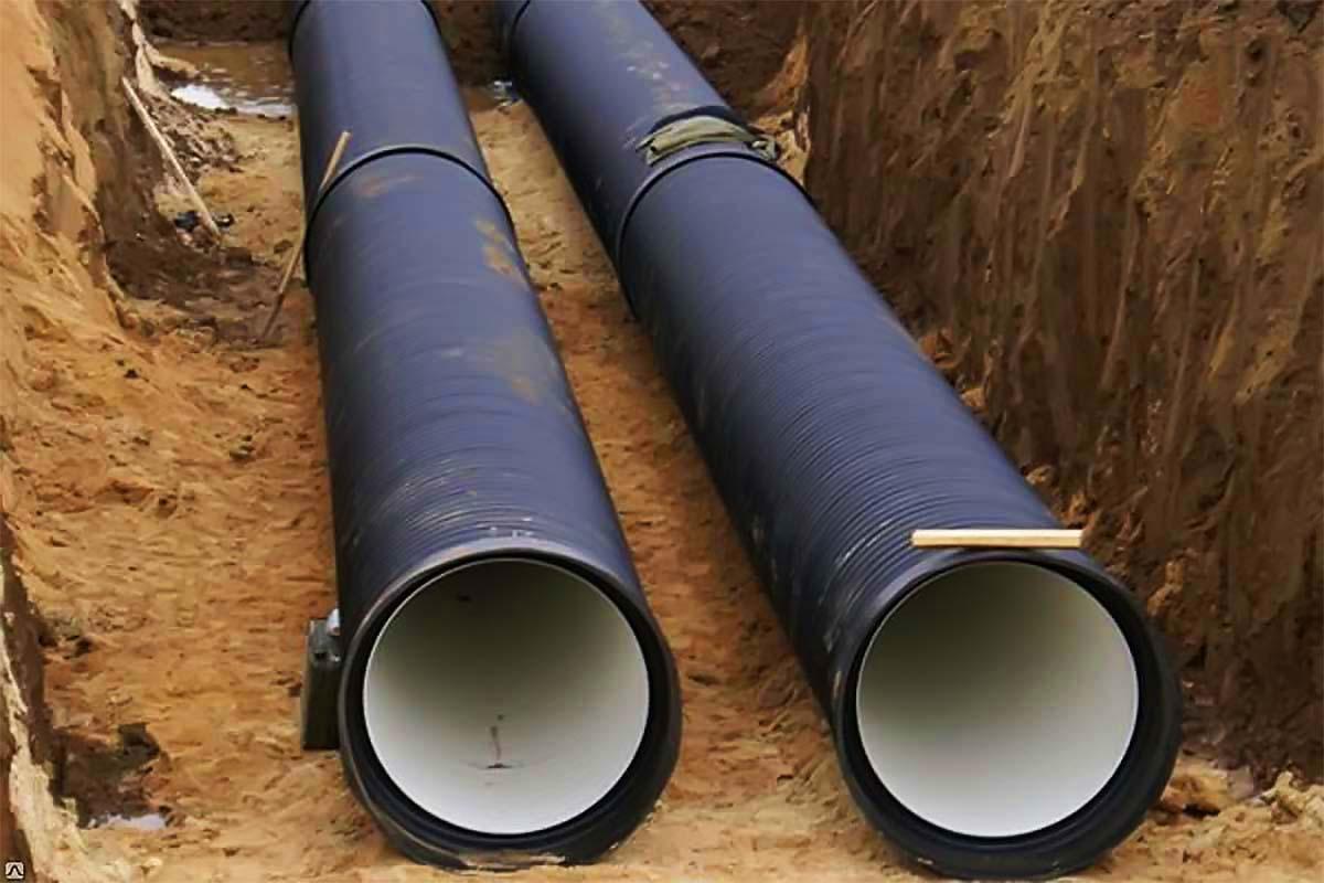 Монтаж гофрированных труб для канализации