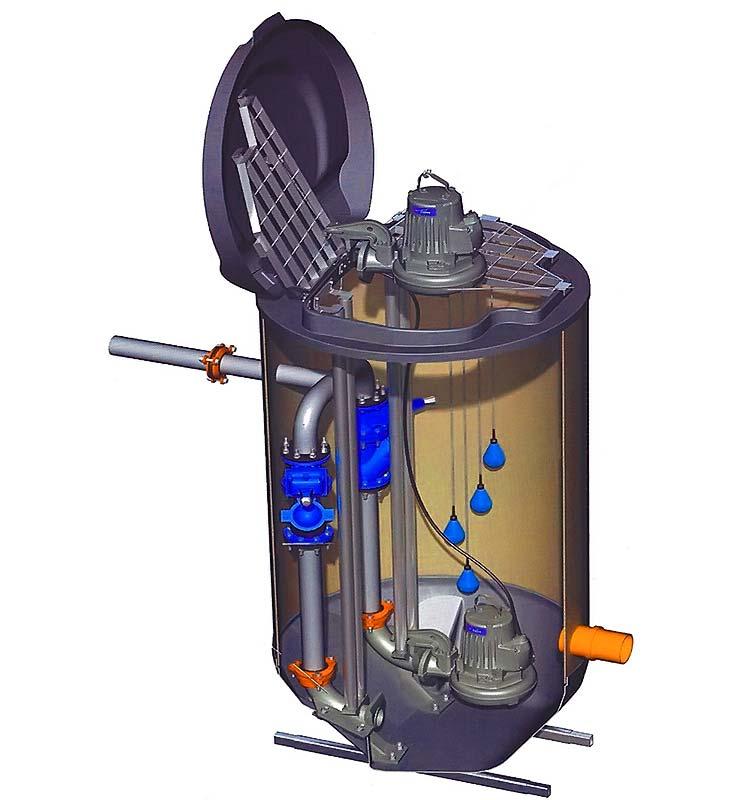 Принцип работы канализационной насосной станции