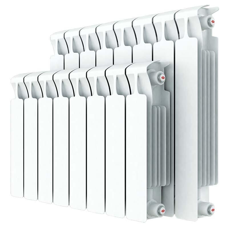 Алюминиевый радиатор белый цвет