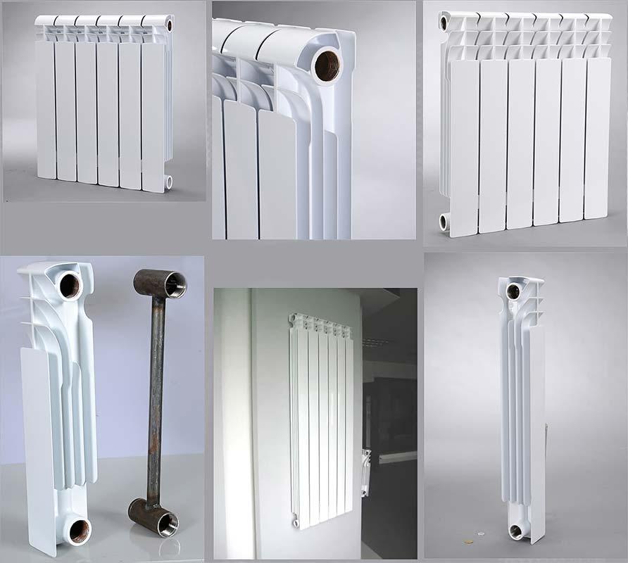 Секции алюминиевого радиатора