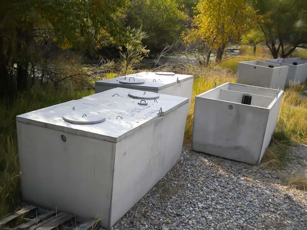 Септик для дома материал бетон