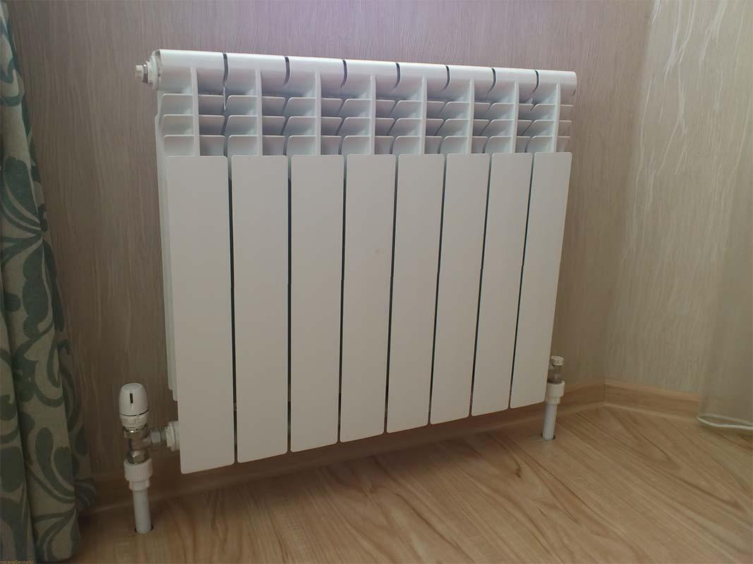 Радиатор подключенный